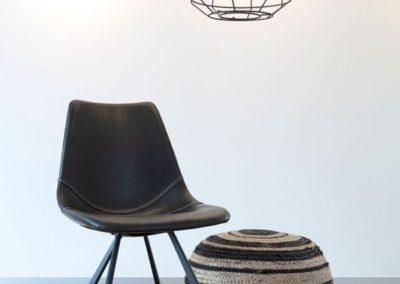 chaise francky black