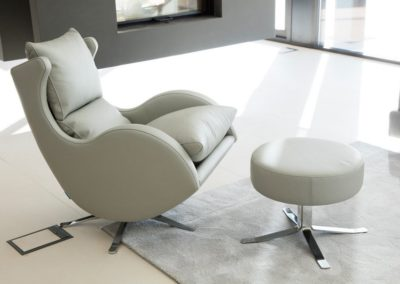 fauteuil relaxation lenny gris