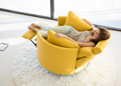 fauteuil relaxation moon jaune