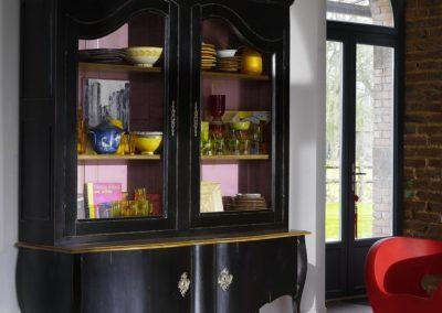bibliothèque et vitrine Marquise