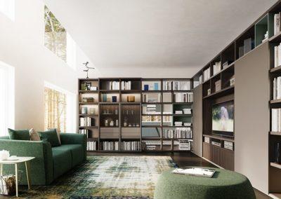 bibliothèque et vitrine My Space